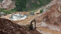 Limestone quarry, Malaysia Stock Footage