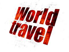 Vacation concept: World Travel on Digital background Stock Illustration