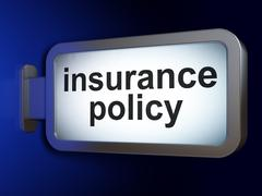 Insurance concept: Insurance Policy on billboard background Stock Illustration