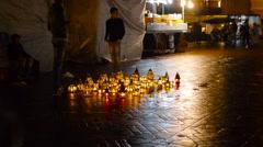 Jemaa el fna marrakech morocco market Stock Footage
