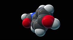 Acetaminophen, molecular model Stock Footage