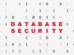 Programming concept: Database Security on wall background Stock Illustration