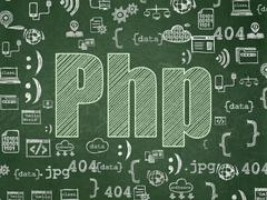 Software concept: Php on School board background Stock Illustration
