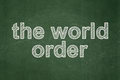 Politics concept: The World Order on chalkboard background - stock illustration