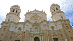 Cathedral of Cadiz Spain Stock Footage