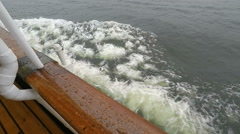 Starboard view from Steamboat in Stockholm archipelago in slow motion Stock Footage