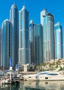 View of Dubai Marina, United Arab Emirates - stock photo