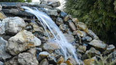 Cascade of Water Flowing Over Rocks Stock Footage