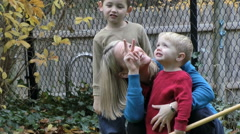 Woman speaking with her sons in ASL Stock Footage
