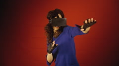 Virtual reality woman ninja fight Arkistovideo