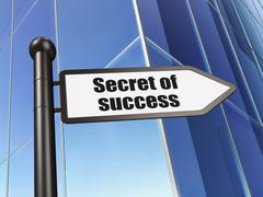 Business concept: sign Secret of Success on Building background - stock illustration