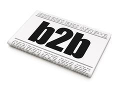 Finance concept: newspaper headline B2b Stock Illustration