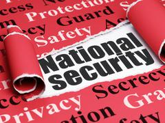Protection concept: black text National Security under the piece of  torn paper - stock illustration