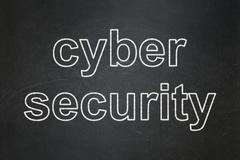 Privacy concept: Cyber Security on chalkboard background - stock illustration