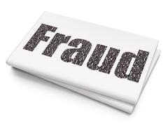 Protection concept: Fraud on Blank Newspaper background - stock illustration