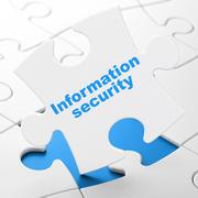 Safety concept: Information Security on puzzle background Piirros