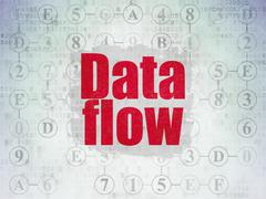Information concept: Data Flow on Digital Data Paper background - stock illustration