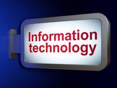Data concept: Information Technology on billboard background Stock Illustration