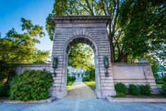 Arch in front of the New Hampshire State House, in Concord, New Hampshire. Stock Photos