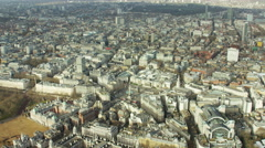Aerial view of Nelson's Column and buildings in City London Stock Footage