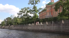 The Fontanka River embankment adjacent to the Engineeriing Castle Stock Footage