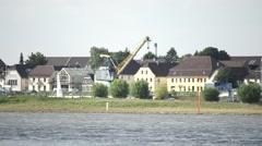 Germany Köln House At River Rhein - stock footage