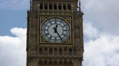 Big Ben, Clock tower close up Stock Footage