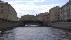The Moyka River embankments and bridges Stock Footage