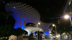 Metropol Parasol, Las Setas de la Encarnacion, plaza mayor in time lapse Stock Footage