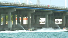 Waverunners racing in Miami Stock Footage