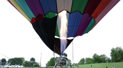 Close up of a hot air balloon torch, short burst Stock Footage