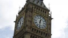 Big Ben - Clock Tower dramatic close up Stock Footage