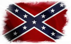 Confederate flag on plain background Stock Photos