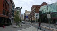 Buffalo New York Genesee and Main Street Stock Footage