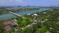 Rich and wealthy live in these homes aerial video - stock footage