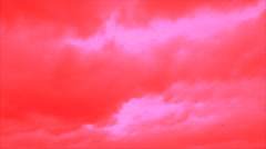 Gaps in the red clouds Stock Footage