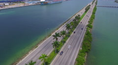Macarthur bridge and Port Miami 4k Stock Footage