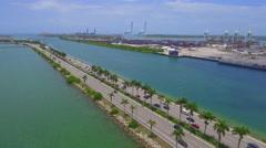 Fantastic Stock video Macarthur Causeway Miami Florida 4k Stock Footage