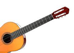 Acoustic guitar - studio lighting shot - 3D Illustration Stock Illustration