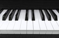 Piano keys extreme closeup shot - 3D render Stock Illustration