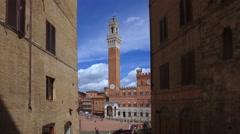 Italy, Tuscany, Siena,  Piazza del Campo Stock Footage