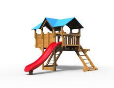 Childrens playhouse - studio shot - 3D render Stock Illustration