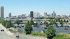 Buffalo New York Skyline From East Stock Footage