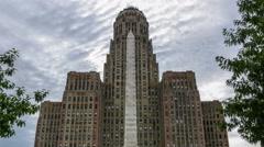 Buffalo New York City Hall Timelapse Tilt Up Stock Footage