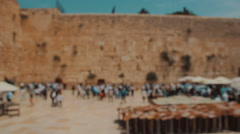 Jewish prayers at the Western wall in the old city of Jerusalem Israel Stock Footage
