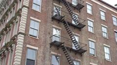 Apartment complex in city establishing shot 4k Stock Footage