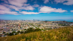 Summer day famous san francisco view point city panorama 4k time lapse usa Stock Footage