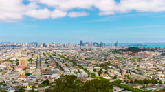 San francisco sunny day famous view point hill city panorama 4k time lapse usa Stock Footage