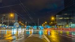 Warsaw Timelapse Plac Bankowy Ratusz Arsenał Warszawa Stock Footage