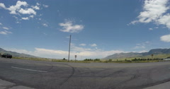 Price, UT to Rexburg, ID Time Lapse Vehicle Point of View.  One of Five. Stock Footage